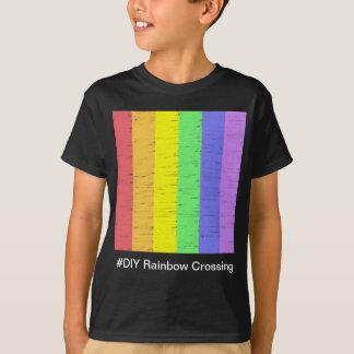 #DIY Regenbogen-Überfahrt - T - Shirt-Schwarzes T-Shirt