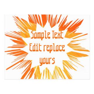 DIY Schablone: Redigieren Sie Textnachricht-Gruß-S Postkarten
