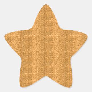 DIY Schablonen-Goldkristallbeschaffenheit addieren Stern-Aufkleber