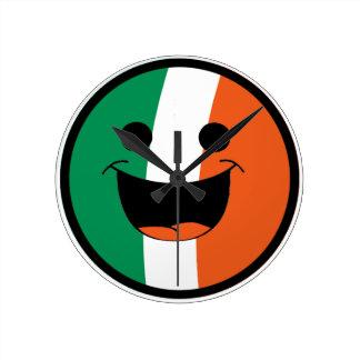 DIY St Patrick irischer Flaggen-Smiley-Rowdy Runde Wanduhr