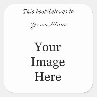 DIY, stellen Ihre eigenen Fotodrucke her. Addieren Quadrat-Aufkleber