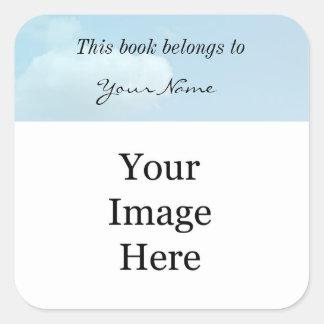 DIY, stellen Ihre eigenen Fotodrucke her. Addieren Quadratischer Aufkleber