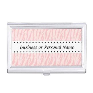 DIY stellen Ihren eigenen rosa Zebra-Druck v05 her Visitenkarten Etui