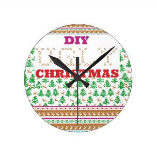 DIY - Tun Sie es sich hässliches Weihnachten - wie Wanduhren