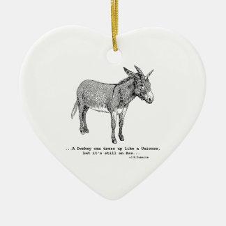 DIY UnicornDonkey ver1 Keramik Herz-Ornament