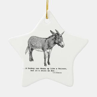 DIY UnicornDonkey ver1 Keramik Stern-Ornament