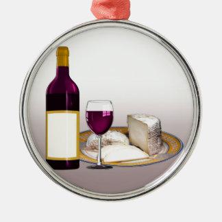 DIY WEIN-FLASCHEN-AUFKLEBER, WEIN-GLAS, KÄSE SILBERNES ORNAMENT