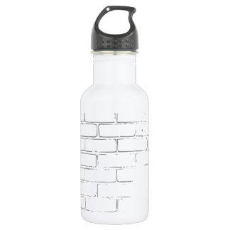DIY weiße Backsteinmauer, zum der Graffiti zu Edelstahlflasche