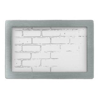 DIY weiße Backsteinmauer, zum der Graffiti zu Rechteckige Gürtelschnallen