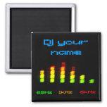 DJ addieren Ihr persönliches Entzerrer-NamensBar Kühlschrankmagnete
