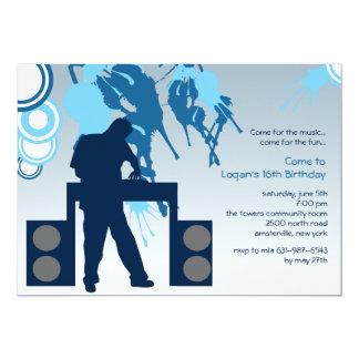 DJ an der Arbeits-Einladung Karte