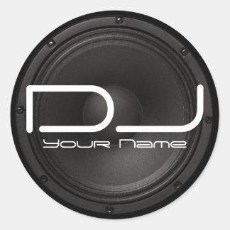 DJ-Aufkleber mit Bass-Entwurf Runder Aufkleber