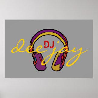 DJ-Dekorwände, spielen die Musik Poster