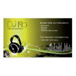 DJ - Diskjockeymusikkoordinator Visitenkartenvorlagen
