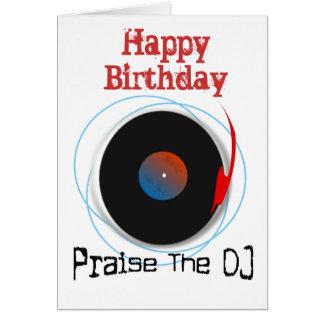 DJ-Geburtstags-Karte Karte