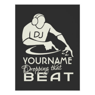 DJ-Gewohnheitsplakat Poster