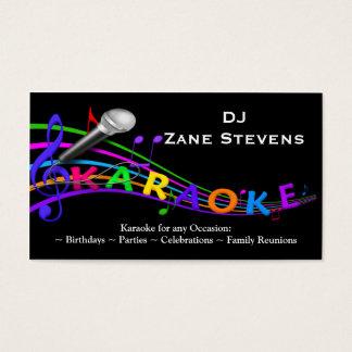 DJ-Karaoke-Visitenkarte-Schablone Visitenkarte