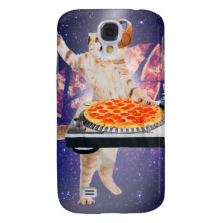 DJ-Katze - Katze DJ - Raumkatze - Katzenpizza Galaxy S4 Hülle