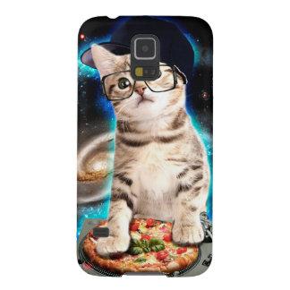 DJ-Katze - Raumkatze - Katzenpizza - niedliche Galaxy S5 Hülle