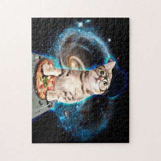 DJ-Katze - Raumkatze - Katzenpizza - niedliche Puzzle