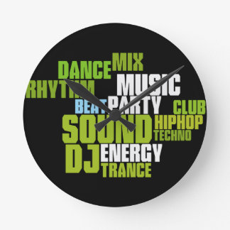 DJ/MUSIC Wanduhr