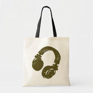 DJ-Musikentwurf Budget Stoffbeutel