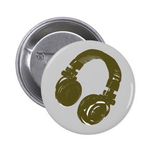 DJ-Musikentwurf Anstecknadelbuttons