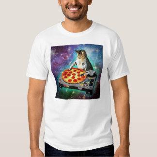 DJ-Raum-Katze, die irgendein süßes Za spinnt Hemd
