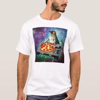 DJ-Raum-Katze, die irgendein süßes Za spinnt T-Shirt