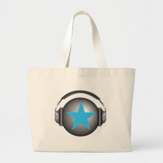 DJ ricorox Erde mit Kopfhörern Einkaufstasche