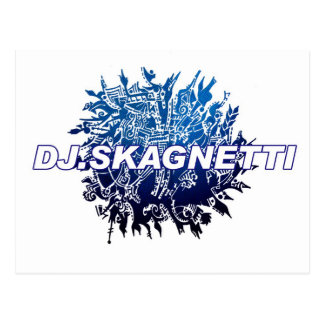 DJ.Skagnetti Blueworld Postkarte