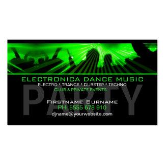 DJ-Tanz-Rave-Laser-Verein-Geschäfts-Karte Visitenkartenvorlagen