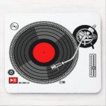 DJ-Turntable-Hintergrund Mousepad