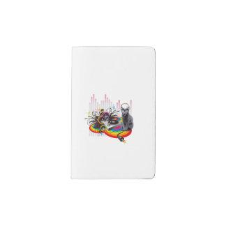 DJ-Turntable Pumpin Musik-Katze Moleskine Taschennotizbuch