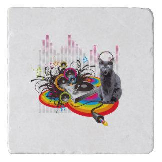 DJ-Turntable Pumpin Musik-Katze Töpfeuntersetzer