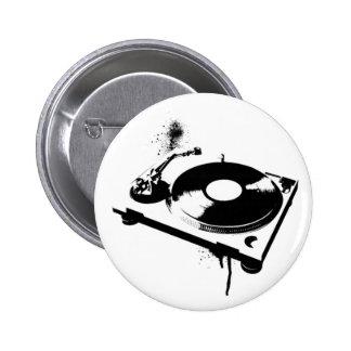 DJ-Turntable Runder Button 5,7 Cm