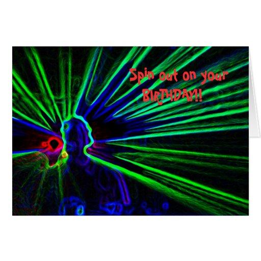 DJ- und Laserlichtgeburtstagskarte Grußkarten