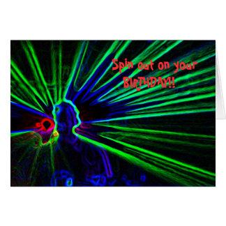 DJ- und Laserlichtgeburtstagskarte Karte