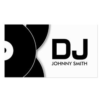 DJ-Vinylaufzeichnungs-Musikindustrie-Karte Visitenkarten
