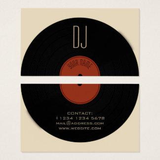 DJ-Vinylaufzeichnungs-Plattenabdeckung Visitenkarte