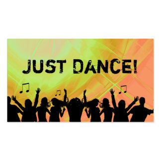 DJ-Visitenkarte-Musik-roter gelber Retro Tanz 2