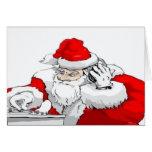 DJ Weihnachtsmann, der die WeihnachtsParty-Bahn Karten