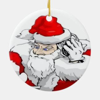 DJ Weihnachtsmann, der die WeihnachtsParty-Bahn Keramik Ornament