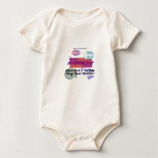 DJColzz abstrakte Formen Babygrow Strampelanzug