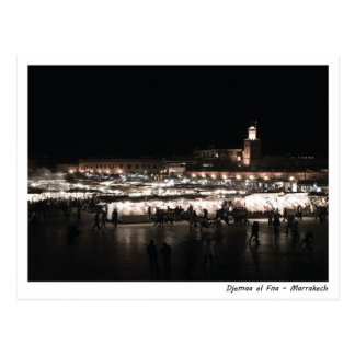 Djemaa EL Fna nachts Postkarte
