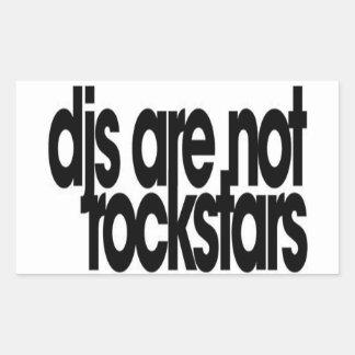 Djs sind nicht Rockstars Rechteckiger Aufkleber