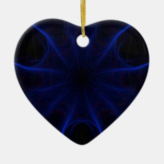 DK. Blauer Laser Keramik Ornament