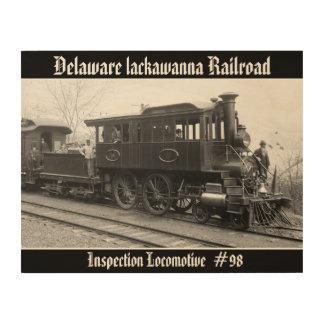 DL+ W-Dampf-Inspektions-Lokomotive Holzwanddeko