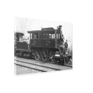 DL+ W-Dampf-Inspektions-Lokomotive Leinwanddruck