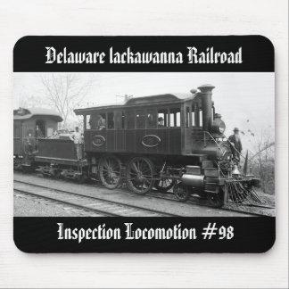 DL+ W-Dampf-Inspektions-Lokomotive Mousepad